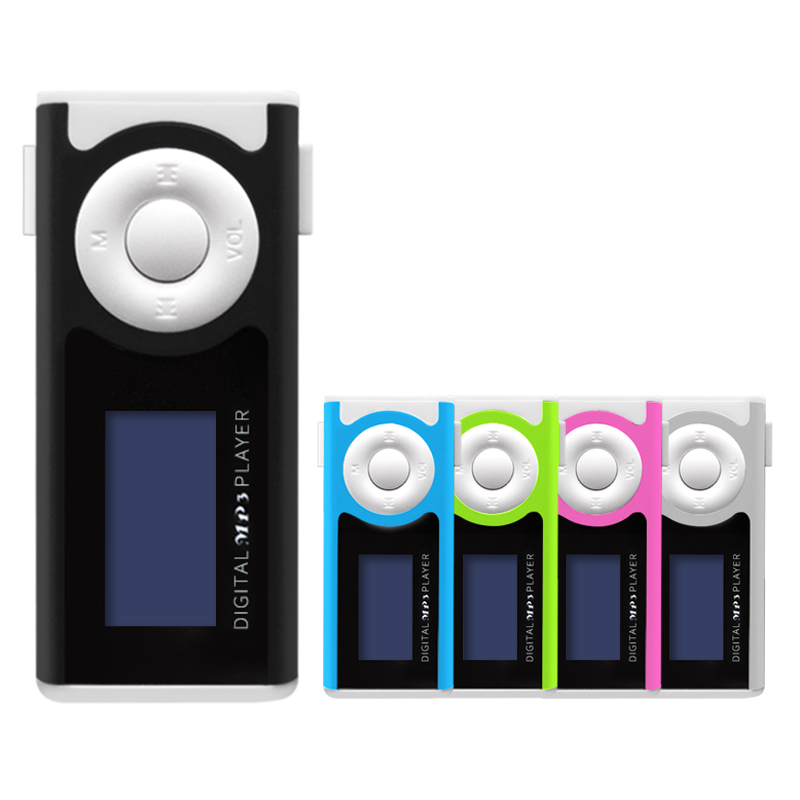 speaker music player digital mini clips mp3 player lcd mp3 player 16gb 8gb 2gb(China)
