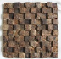 3D Natural Wood Mosaic Tile Wood Mosaics Kitchen Backsplash Tile Ancient Wood Mosaic Wall Tiles Wood