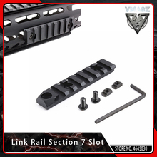 VMASZ Mlok Hunting Accessories Keymod 7 Slot Picatinny/Weaver Rail for M-Lok Aluminum Rail Section Hand Guard все цены