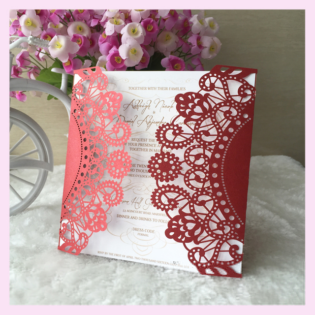25pcs Wedding Invitation Card Event Baby Shower Invite Luxury Arabic Style Decoration Paper