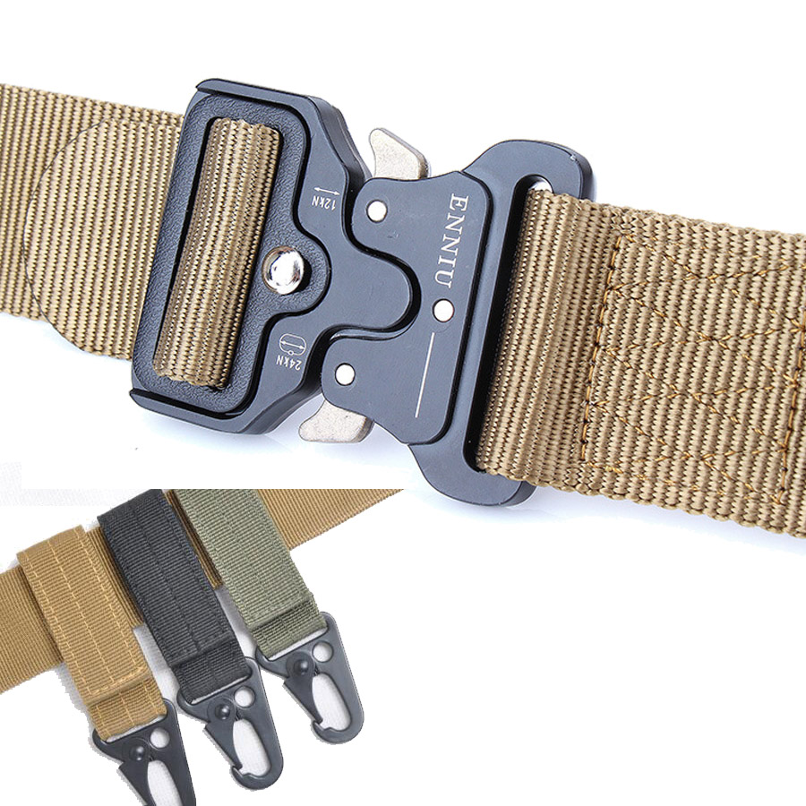 Knock Off Tactical Belt Nylon Multifunctional Training Belt Military Equipment Soldier Combat Waistband Army Men Sturdy dropship