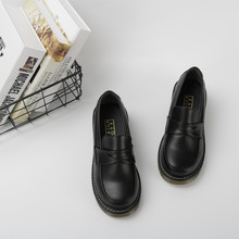2020 New Japanese Style College Student Uniform Shoes Cosplay Lolita Shoes for Women/Girls Black/Brown Platform Shoes Size 35-40