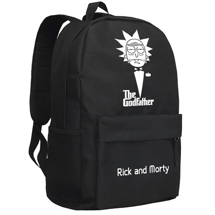 New Rick and Morty Backpack Cosplay Cartoon Bag Anime Oxford Schoolbag hot selling anime inuyasha sesshoumaru cosplay shoulders oxford bag backpack cartoon cute schoolbag satchel book bags