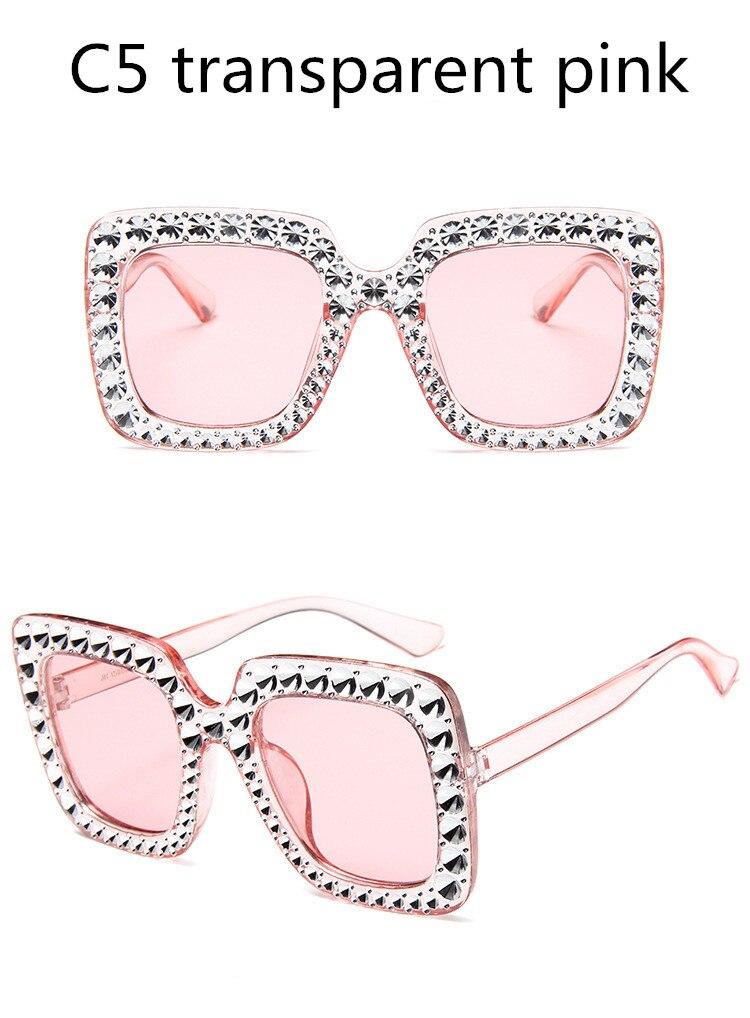 ASUOP2018 International Brand Sunglasses Ladies Crystal Multicolor Mirror Retro All Star Glasses Women Black Gray Hue Sunglasses (3)