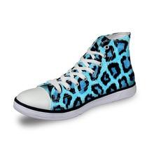 Noisydesigns High Top Canvas Frauen Turnschuhe Vintage vulkanisiert Lace up flache Schuhe Damen bunte Leopard 3D print Mädchen Schuhe
