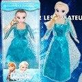 Disney Princesa Congelada Niñas Juguetes 29 cm Princesa Ana Y Elsa Muñeca Boneca Bebé Juguetes Muñeca de Juguete Nuevo 2016 Populares