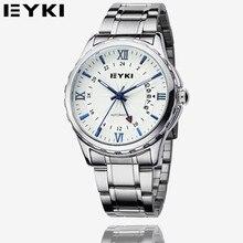 EYKI 2016 de Lujo de Acero Inoxidable Reloj de Pulsera de Los Hombres de Negocios Reloj Mecánico Automático Impermeable Reloj Relogio masculino EFL8552