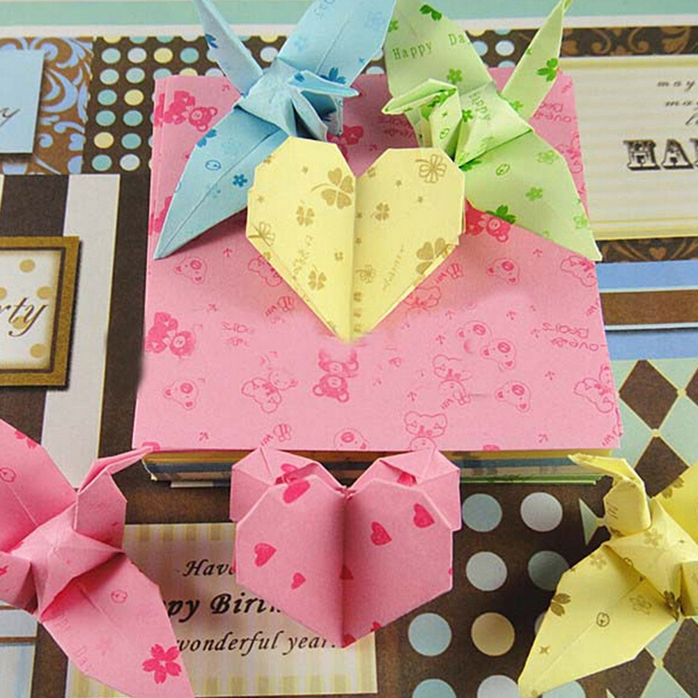 150sheets Square Origami Folding Paper Flower Patterned Papers