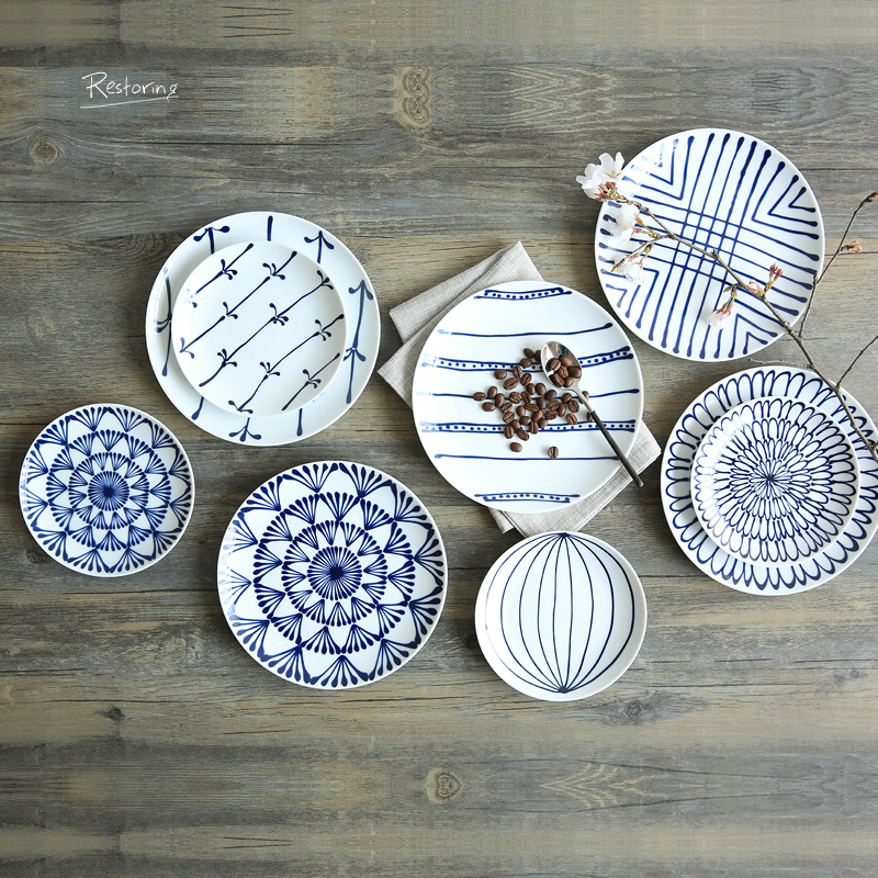 Japanese Ln Glaze Decoration Ceramic Dishes And Plates