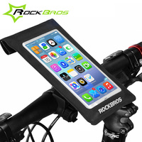 ROCKBROS Waterproof Bike Bicycle Phone Bag Touchscreen Cycling Frame Front Head Top Tube Waterproof Swimming Surfing