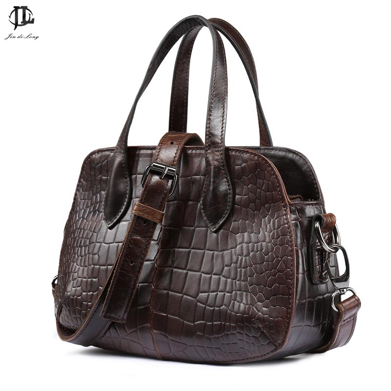 new arrival shell shape Crocodile bag fashion retro design chain cow leahter unisex genuine leather handbag