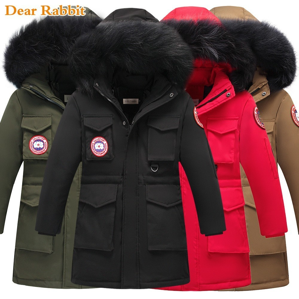 30 Degree 2019 Kids Thick Warm Duck Down Jackets Coat Winter Boys girl clothes Children