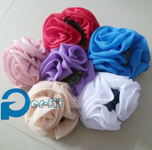 chiffon flower claw clip hair ornament updo maker volumising flower clip khaleeji volumizer 13cm 12pcs/lot
