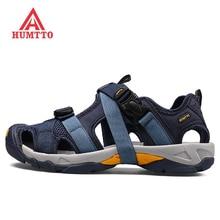 2019 HUMTTO Men's Summer Outdoor Hiking Trekking Sandals Shoes Sneakers For Men River Plate Beach Aqua Water Shoes Sandals Man
