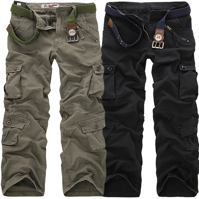2016 New Men Many Pockets Design Fashion Casual   Clothing Cargo Pants Good Quality Casual Military   tactical Pants