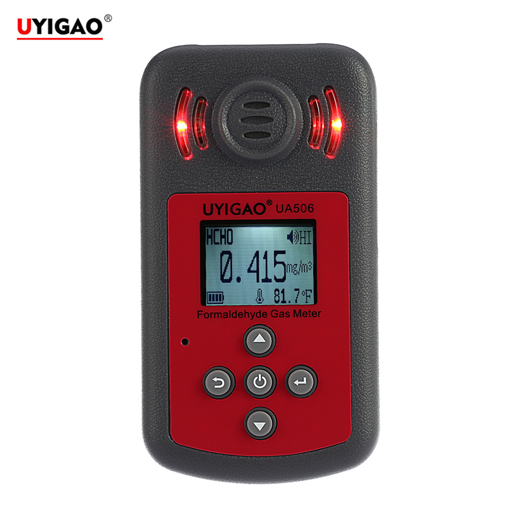 Professional Digital Formaldehyde Tester Mini Meter for PPM HTV Methanal Concentration Monitor Detector with Sound LightAlarm uyigao ua506 for ppm htv digital formaldehyde test methanol concentration monitor detector withlcd display sound and light alarm