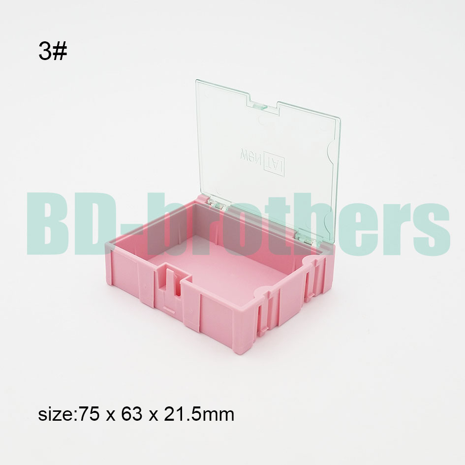 Original 3 Pink Component storage box IC Square Components Boxes SMT SMD WeNTAI Combination Boxes Plastic