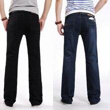 Мини acampanado pantalones вакеро Осенью и зимой джинсовые небольшой мужской flare джинсы упругие узкие брюки Мини вспыхнул джинсы Брюки