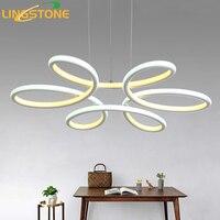 Lustre Éclairage Lustre Led Lampe Moderne Suspendus Luminaire En Aluminium Plafond Plaque Télécommande Lustres Salon