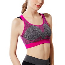Breathable Female Sports Bra Top Sexy Cross Strap Push Up High Impact Running Bra for