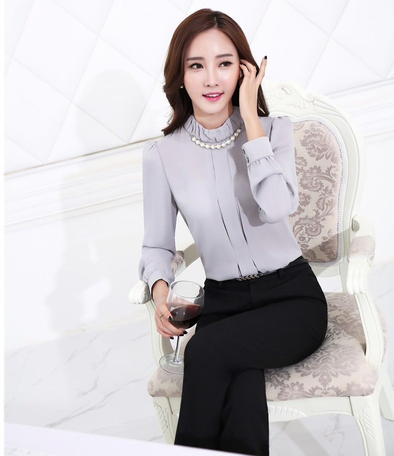 63a16e848de2e Formal Uniform Style Female Pantsuits Tops And Pants Professional Business  Work Suits Office Ladies Trousers Sets Plus Size-in Pant Suits from Women s  ...