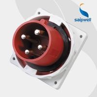 63A 400V 4P (3P+E) 63 amp connector industrial plug male socket wall mounted Splash Proof IP67 EN / IEC 60309 2 type SP3656