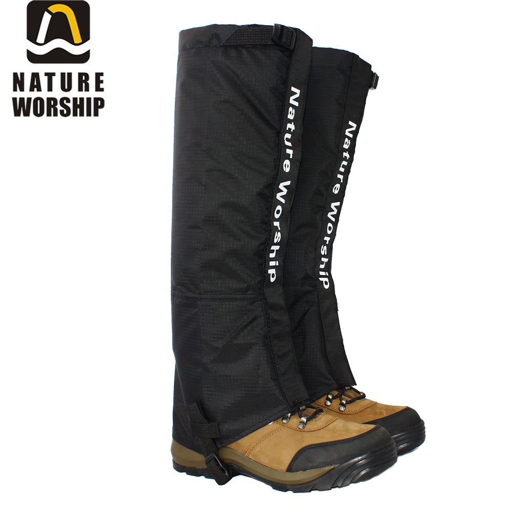 New Outdoors Camping Hiking Climbing Hunting Ski Riding bike or motorcycle Waterproof Leg long Gaiters windproof gaiters 55CM