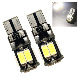 T10 Canbus!! 50 PCS t10 W5W 194 168 5630 10 SMD Can bus Error Free 10 Led Interior Led Lights Bulbs White 6000K Canbus 300LM