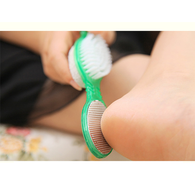 4 in 1 Foot Care Callus Brush Pumice Grinding Feet Stone Scrubber Pedicure Exfoliate Remover Double-end Cleaning Dust Dead Skin 3