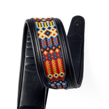NEW  BATESMUSIC Guitar Strap for Bass & Electric Guitar Christian Guitar Strap Hand Tooled Cross Design Length from 46