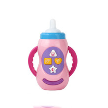 Huan qiu xin mao Baby Educational toy children musical feeding bottle toys with sound and light / milk bottle learning toy цена