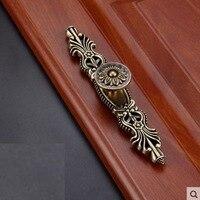 168 мм длинные металлические тянуть ручки ручка Зеленый Медный однотонные Анодируйте для мебель двери ящика Кабинет Шкаф архаизмы