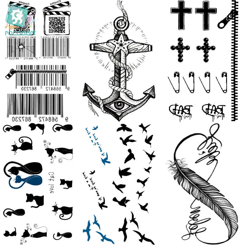 Rocooart Multi Hc176 200 Seni Tubuh Seksi Kecantikan Hitam Putih Sketsa Gambar Air Transfer Sementara Flash Palsu Tato Stiker Tattoo Sticker Fake Tattoos Stickersbody Art Aliexpress