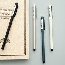 1 piece Korean Stationery Metal Desgin 0.5mm Gel Pen Black Ink Creative Refillable Pens School and Office Stationery
