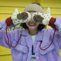 Nouveau Designer Filles Femmes Dames Main Poignet L'hiver Pendaison Cou Épaississent Chaude Gants Chauds gants de motoneige Vicky