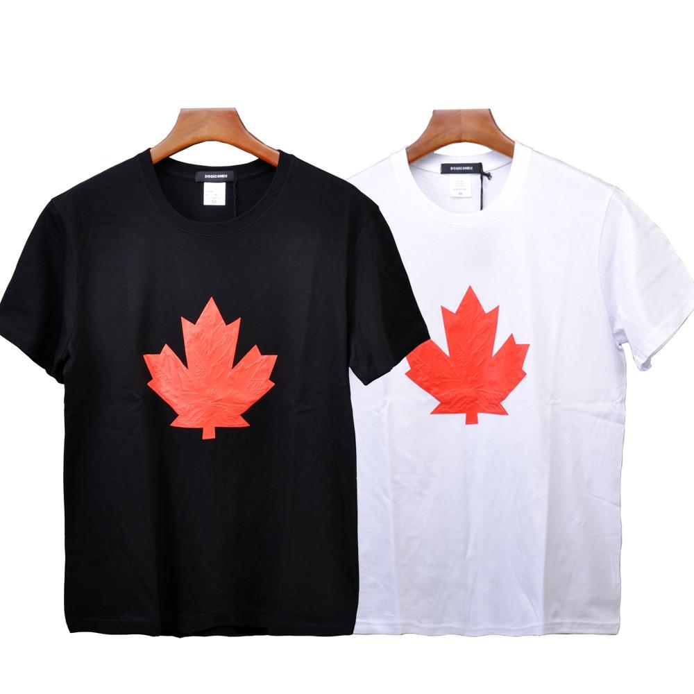 DSQUARED2 Canada Leaf Chest Print Men/'s T-Shirt sizes S M L XL 2XL Free Shipping