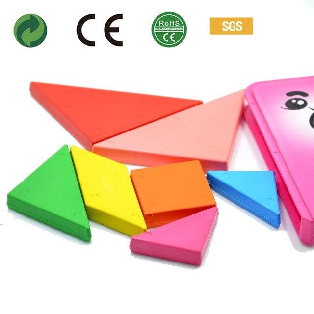 creative enfant peinture d 39 apprentissage tangram puzzle forme crayon jouets pour enfant en bas. Black Bedroom Furniture Sets. Home Design Ideas