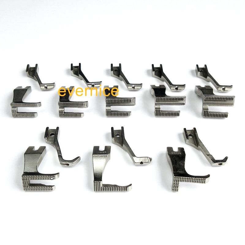 8 sets Walking Piping Welting Zipper Feet for Juki DU 141 DU 1181 Econosew 797 Artisan
