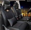 Cuero de la marca negro / marrón asiento de coche de la cubierta delantera y trasera completa asiento para Hyundai sonata elanter ix30 acento ix35 fundas de cojines