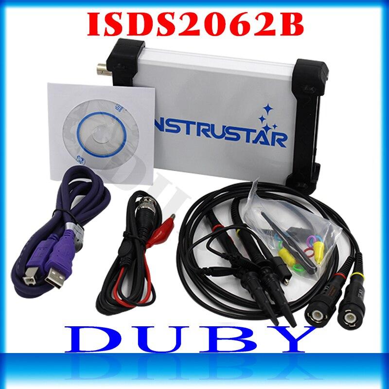 ISDS2062B Virtuale USB del PC oscilloscopio DDS segnale 2CH 20 MHz larghezza di banda 60MSa/s 12bit ADC analizzatore FFT
