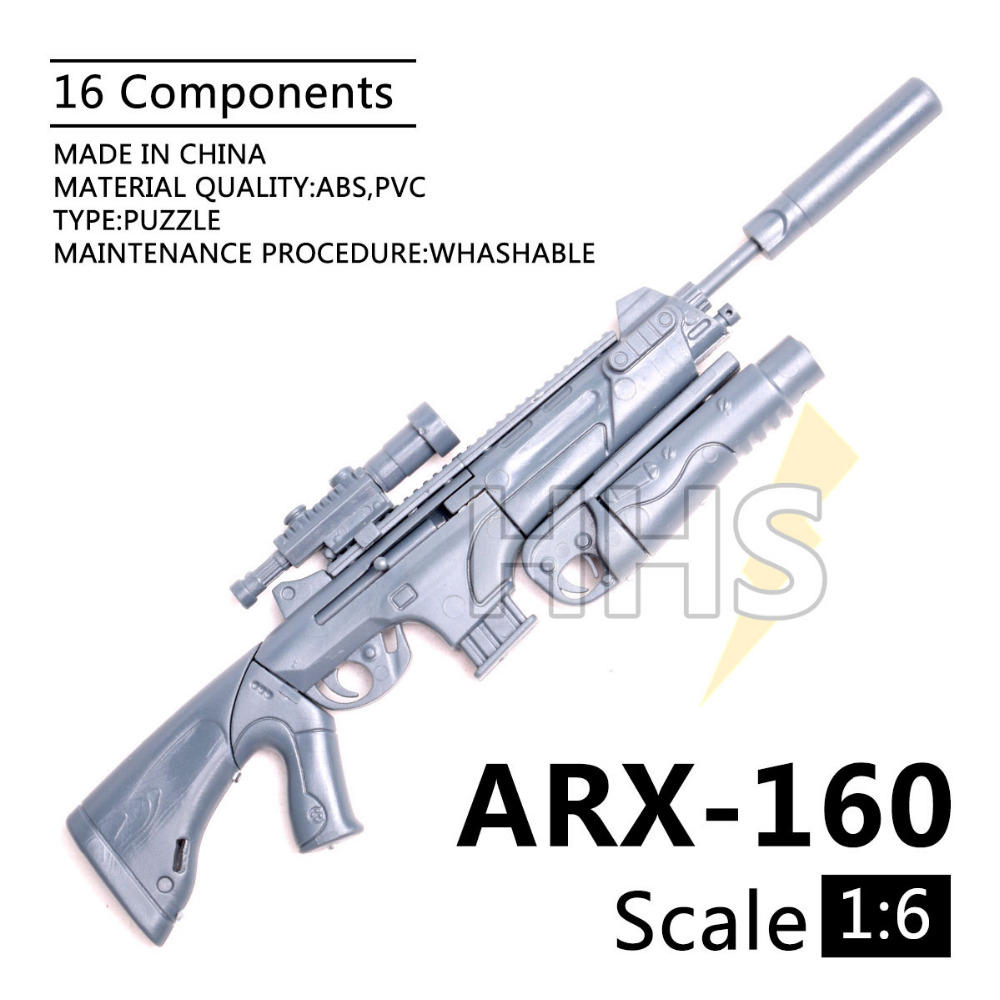 1:6 1/6 Scale 12 inch Action Figures ARX-160 Assault Rifle Grenade Launcher 1/100 MG Bandai Gundam Model Can Use 000442