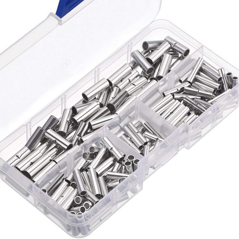 200pcs Non Insulated Butt Connectors 22 18awg 16 14awg 12