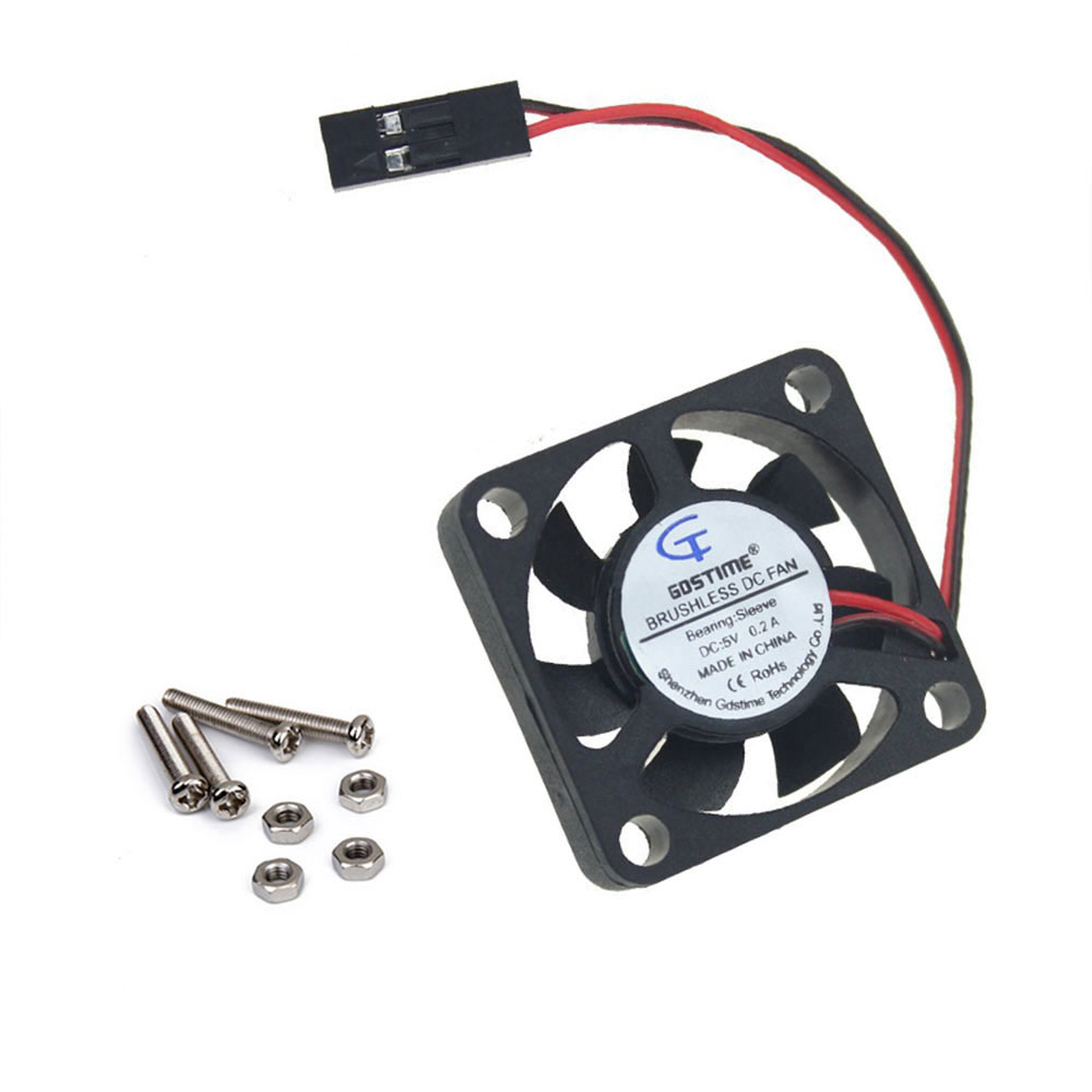 Raspberry Pi 3 Cooling Fan For CPU Acrylic Case / 5V Plug-in And Play / Support Raspberry Pi Plus B+/ 3d Printer