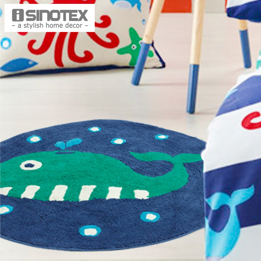 100% Cotton Floor Rug Cartoon Child Soft Kids Carpet Handmade Anti-slip Mat For Living Room Non-slip Handmade Doormat 1pcs/lot