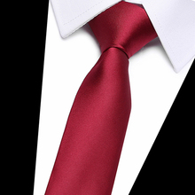 Good quality Solid red wine Men Tie 100% Silk Jacquard Woven Necktie Gravata Corbatas Set for Formal Wedding Party