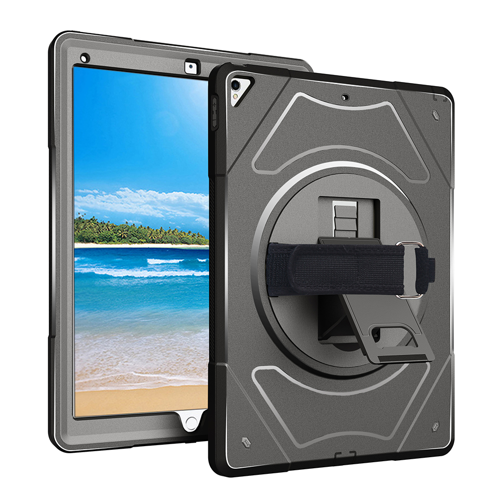 Miesherk for iPad Pro 12.9 360 Degree Rotating with Pencil Holder Adjustable Handle Strap for ipad A1671 A1670 A1652 A1584
