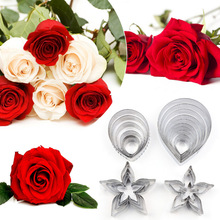 Stainless Steel Clay Cutting Mold Designer DIY Resin Paper Clay Rose Petal Leaf Shape Pattern Cutter clay tools 23pcs/set kqh036 5 40 in 1 3d leaf pattern diy polymer clay decoration stick set multicolored