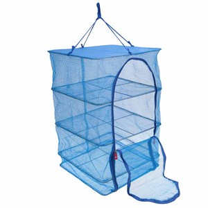 Image 2 - 40 x 40 x 65cm 4 Layers Fish Drying Net Durable Drying Rack Folding Hanging Vegetable Fish Dishes Dry Rack PE Hanger
