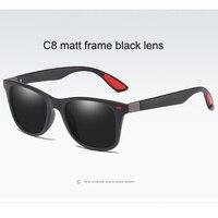 C8 Matt black frame