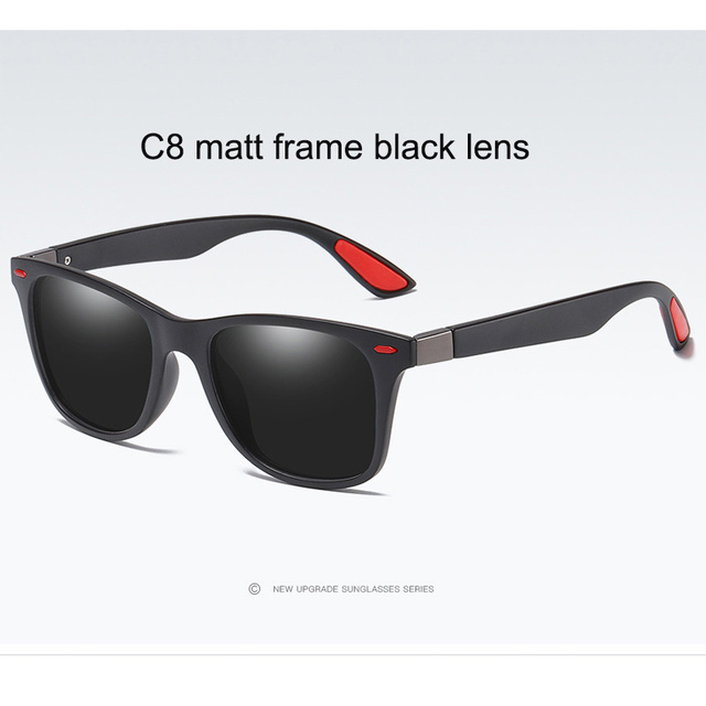 C8 Matt black frame